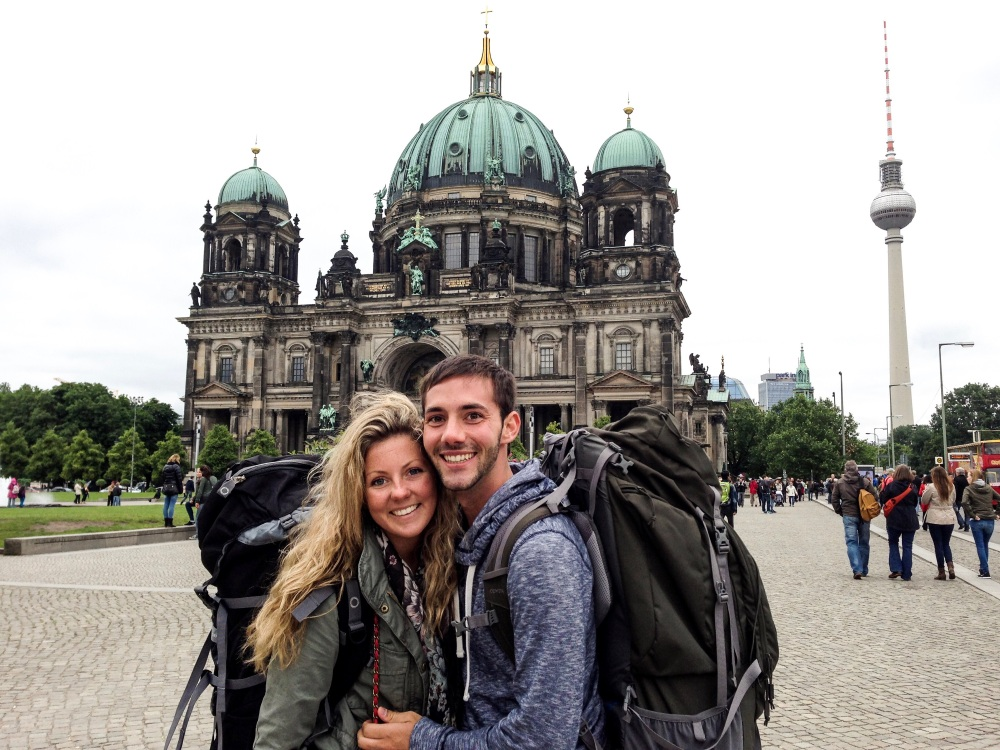 berlin, germany, backpack europe, travel couple