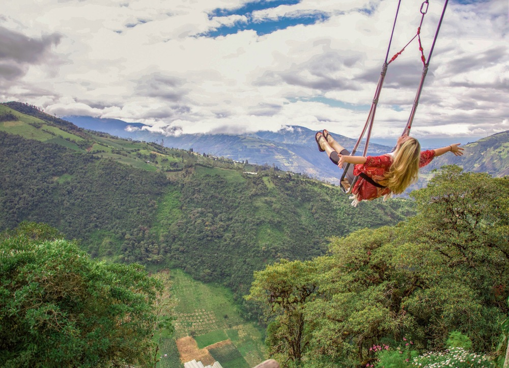 Banos, Ecuador, swing at the edge of the world, south america travel, Banos must do's