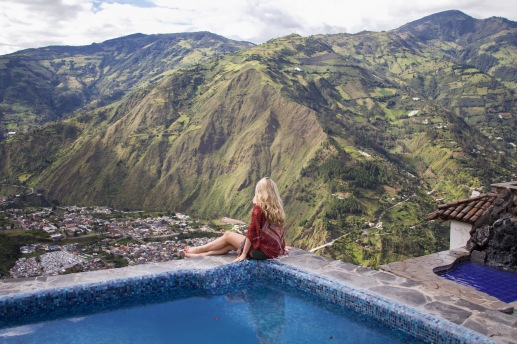 route of waterfalls, Ecuador travel, adventure blogger, Banos, hot springs, south america travel
